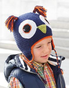 Kid's Cap Owl 74 Blauw
