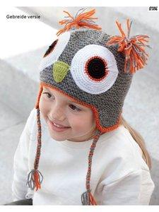 Kid's Cap Owl 73 Grijs
