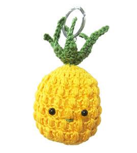 Haakpakket tashanger Ananas