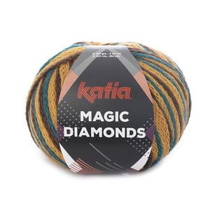 Magic Diamonds 56 Groenblauw-oker-bruin